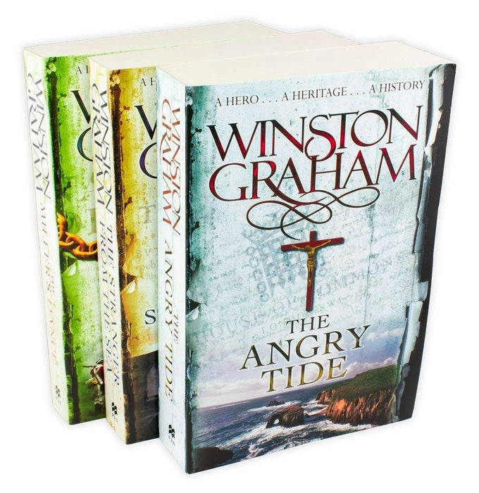 Winston Graham Poldark Series 3 Book Collection - Books 7-9  - Paperback - Books2Door
