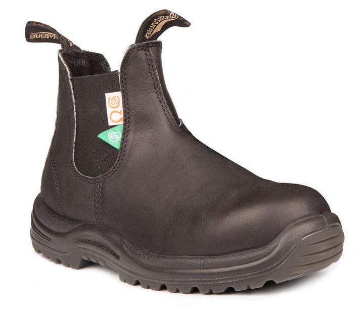 Blundstone 163 Black/Steel Toe (CSA) - Omars Shoes