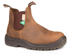 Blundstone 164 Crazy Horse Brown/Steel Toe (CSA)