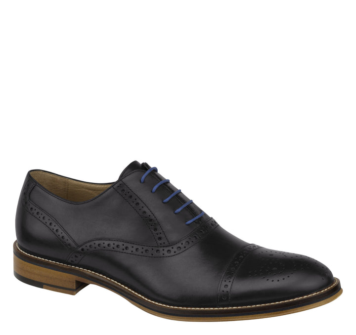Men's Johnston & Murphy Conard Cap Toe/Black Shoe - Omars Shoes