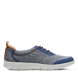 Women's Clarks Step AllenaBay/Navy Shoe - Omars Shoes