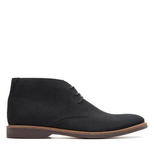 Men's Clarks Atticus Limit/ Black Nubuck Boot