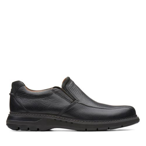 Men's Clarks's Un Ramble Step/ Black Slip-On - Omars Shoes