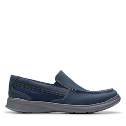 Men's Clarks Cotrell Easy/Navy Slip On - Omars Shoes