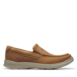 Men's Clarks Cotrell Easy/Brown Slip On - Omars Shoes
