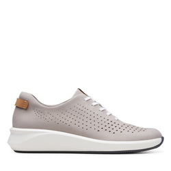Women's Clarks Un Rio Tie/Stone Shoe - Omars Shoes