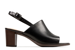 Women's Clarks Kaylin60 Sling/Black Sandal - Omars Shoes
