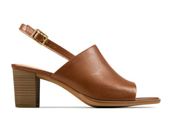 Women's Clarks Kaylin60 Sling/Tan Sandal - Omars Shoes