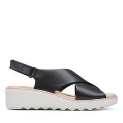 Women's Clarks Jillian Jewel/Black Sandal - Omars Shoes