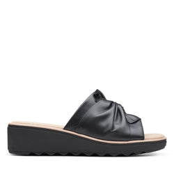 Women's Clarks Jillian Leap/Black Sandal - Omars Shoes