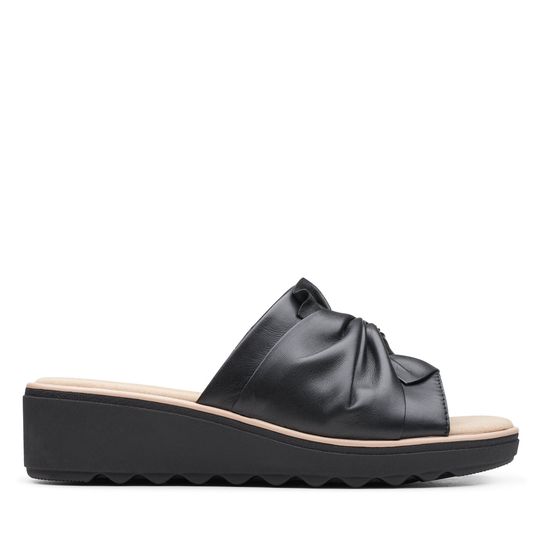 Women's Clarks Jillian Leap/Black Sandal