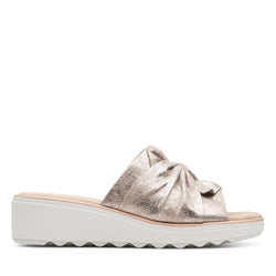 Women's Clarks Jillian Leap/Pewter Sandal - Omars Shoes