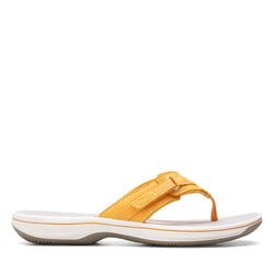 Women's Clarks Breeze Sea/Yellow Sandal