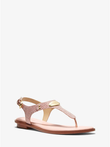 Women's Michael Kors Glitter Chain/Rose Gold Sandal
