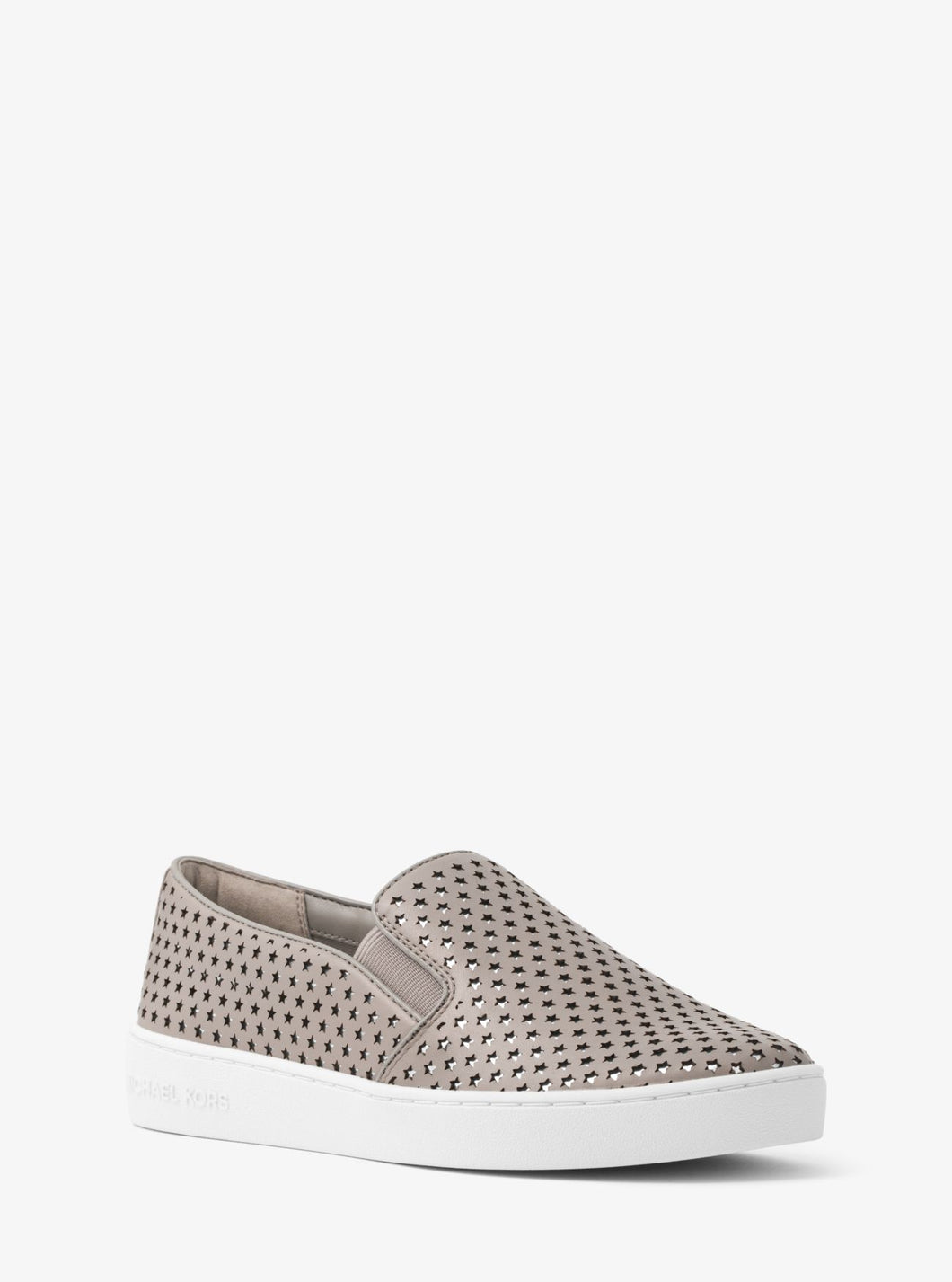 Michael Kors Keaton Leather Slip-On/Grey Sneaker