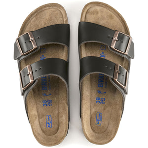 Birkenstock Arizona Leather/Brown Sandal Soft Footbed