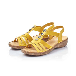 Women's Rieker 62831-68/Yellow Sandal