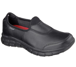 Women's Skechers Track Slip Resistant/Black Shoe