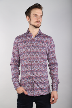 Men's 7 Downie St 2198/Stained Glass Print Long Sleeve Shirt