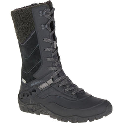 Women's Merrell Aurora Tall Ice+/ Black Winter Boot - Omars Shoes