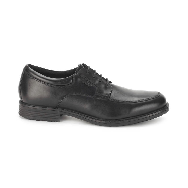 Men's Rockport Essential Details Apron Toe/ Black Dress Shoe - Omars Shoes