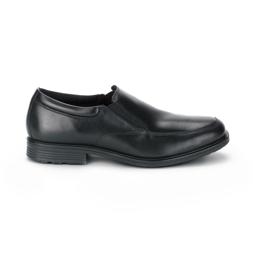 Men's Rockport Essential Details Slip-On/ Black Dress Shoe