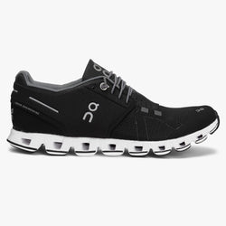 Women's On Cloud/Black White Running Shoe - Omars Shoes