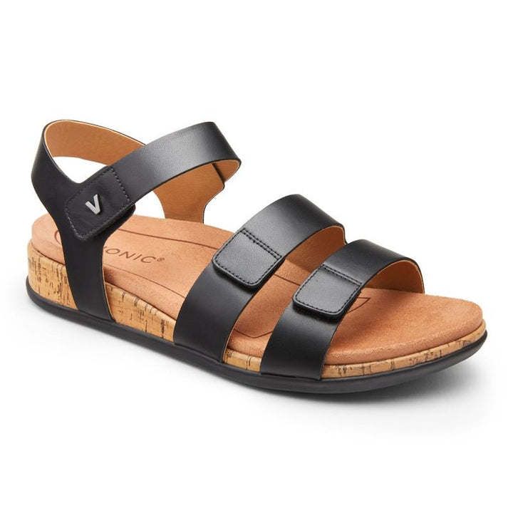Women's Vionic Colleen/Black Sandal - Omars Shoes