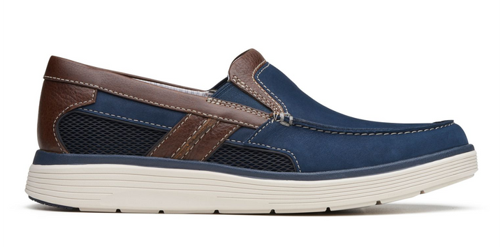 Men's Clarks Un Abode Free/Navy Slip-On