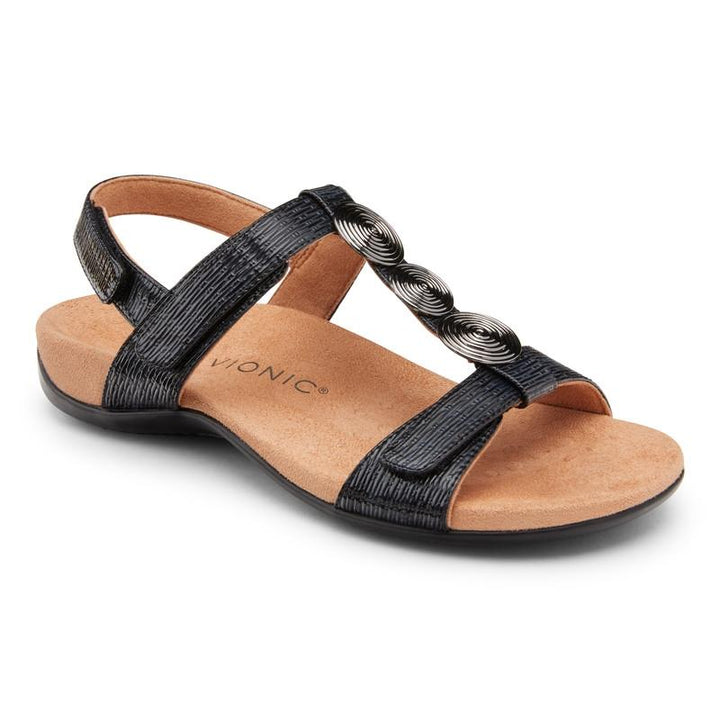Women's Vionic Farra/Black Woven Sandal - Omars Shoes