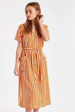 Women's ICHI Julle/Jaffa Orange Dress