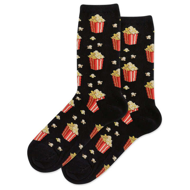 Women's Hot Sox Popcorn/Black Socks