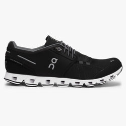 Men's On Cloud/Black White Running Shoe - Omars Shoes
