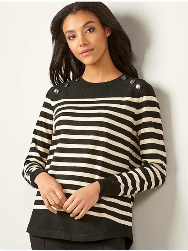 Women's Charlie Paige 406098/Stripe Top