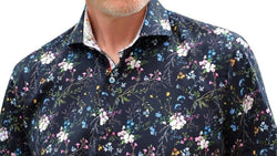 Men's 7 Downie St 3507/Black Floral Short Sleeve Shirt