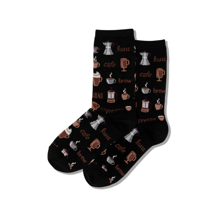 Women's Hot Sox Coffee/Black Socks