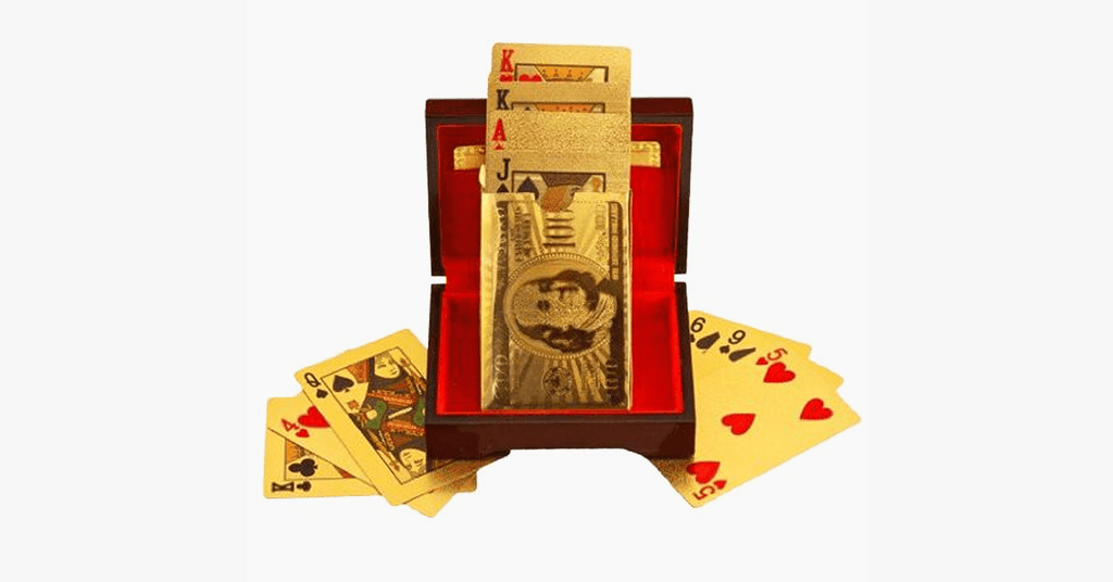 24K Gold-Plated Playing Cards with Optional Case