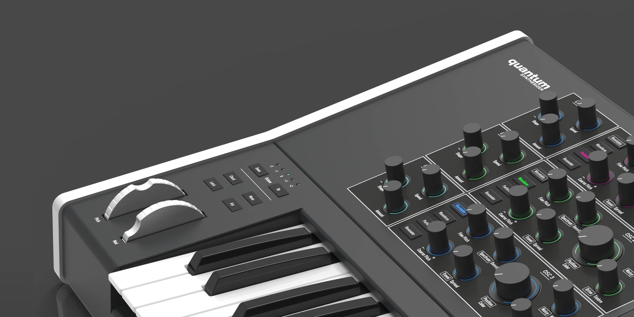 Waldorf's new flagship synthesizer the Quantum now shipping