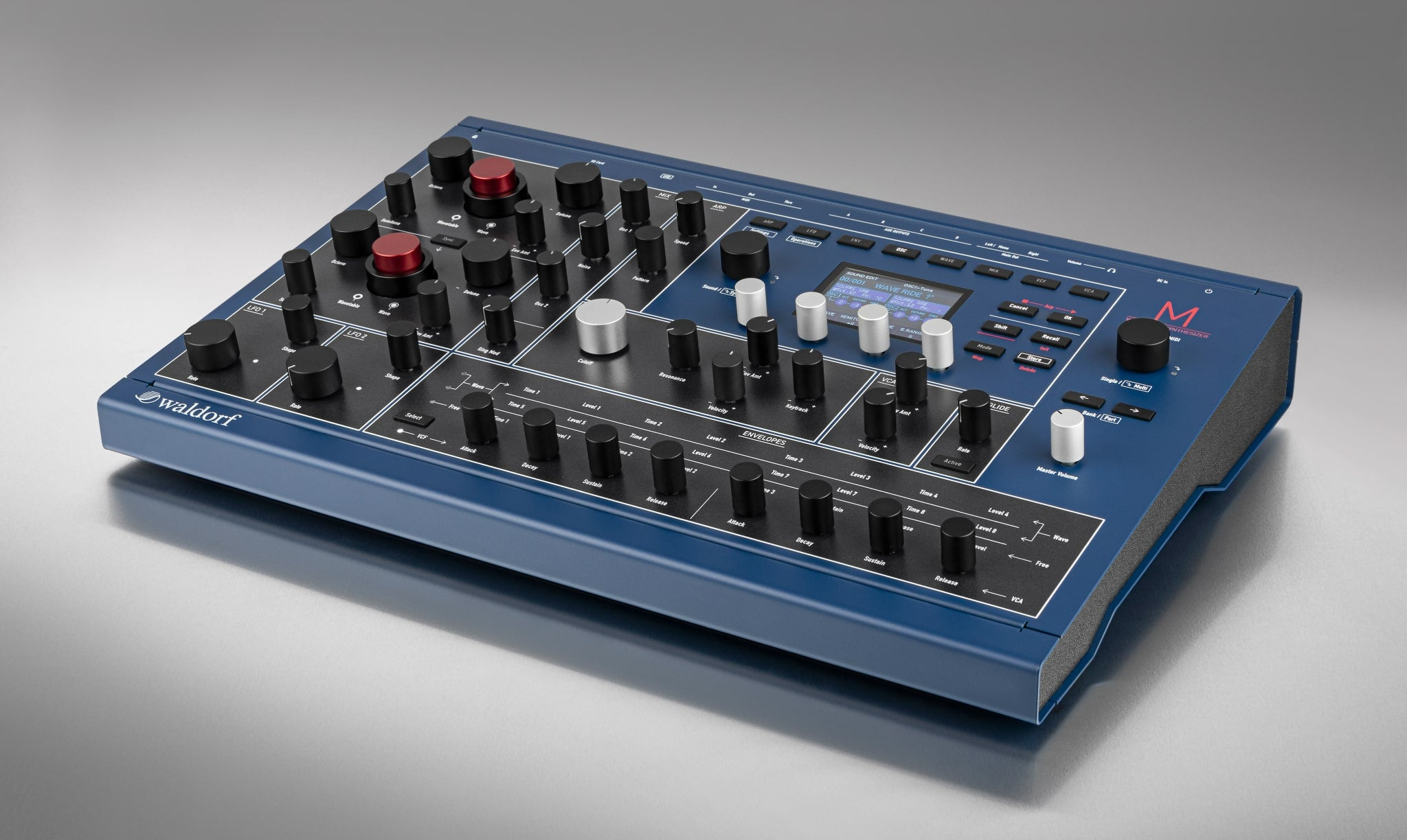 Waldorf M wavetable synthesizer front