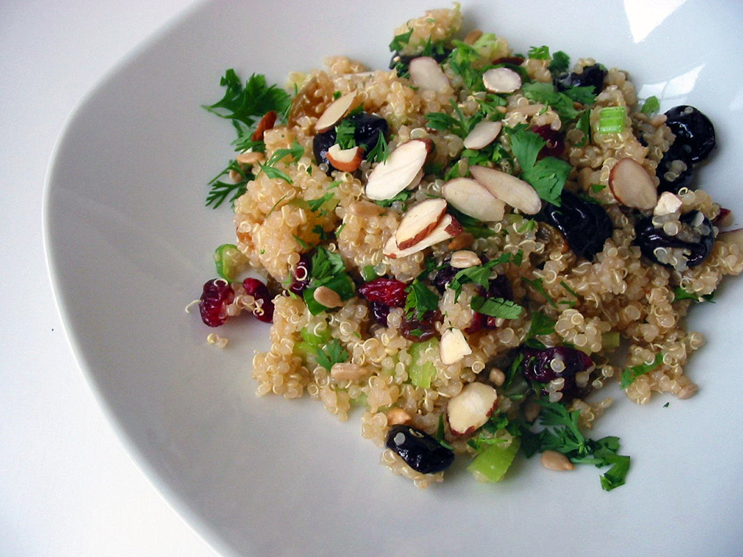 Quinoa Almonds and Dried Cranberries Salad