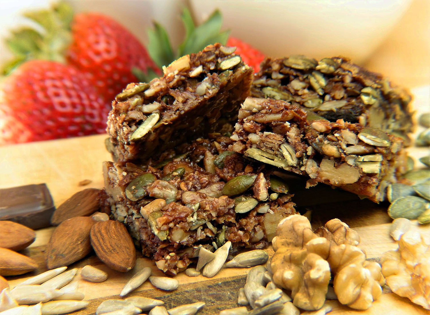 Healthy Granola Bars with Coconut Chips