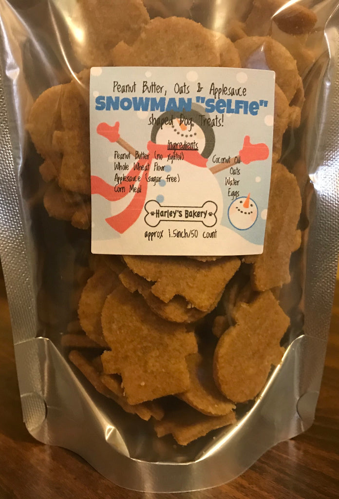 "SNOWMAN ""SELFIE"" Dog Treats!"