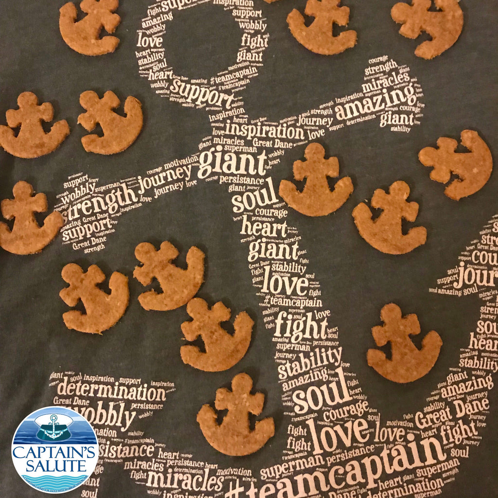 Anchor shaped Dog Treats for Captain's Salute