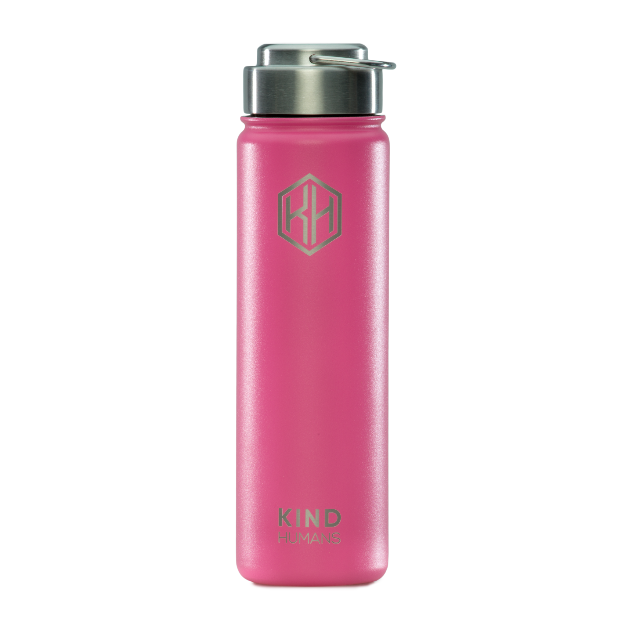 Pink 22oz. Stainless Steel Water Bottle - The Pink Dolphin - Kind Humans