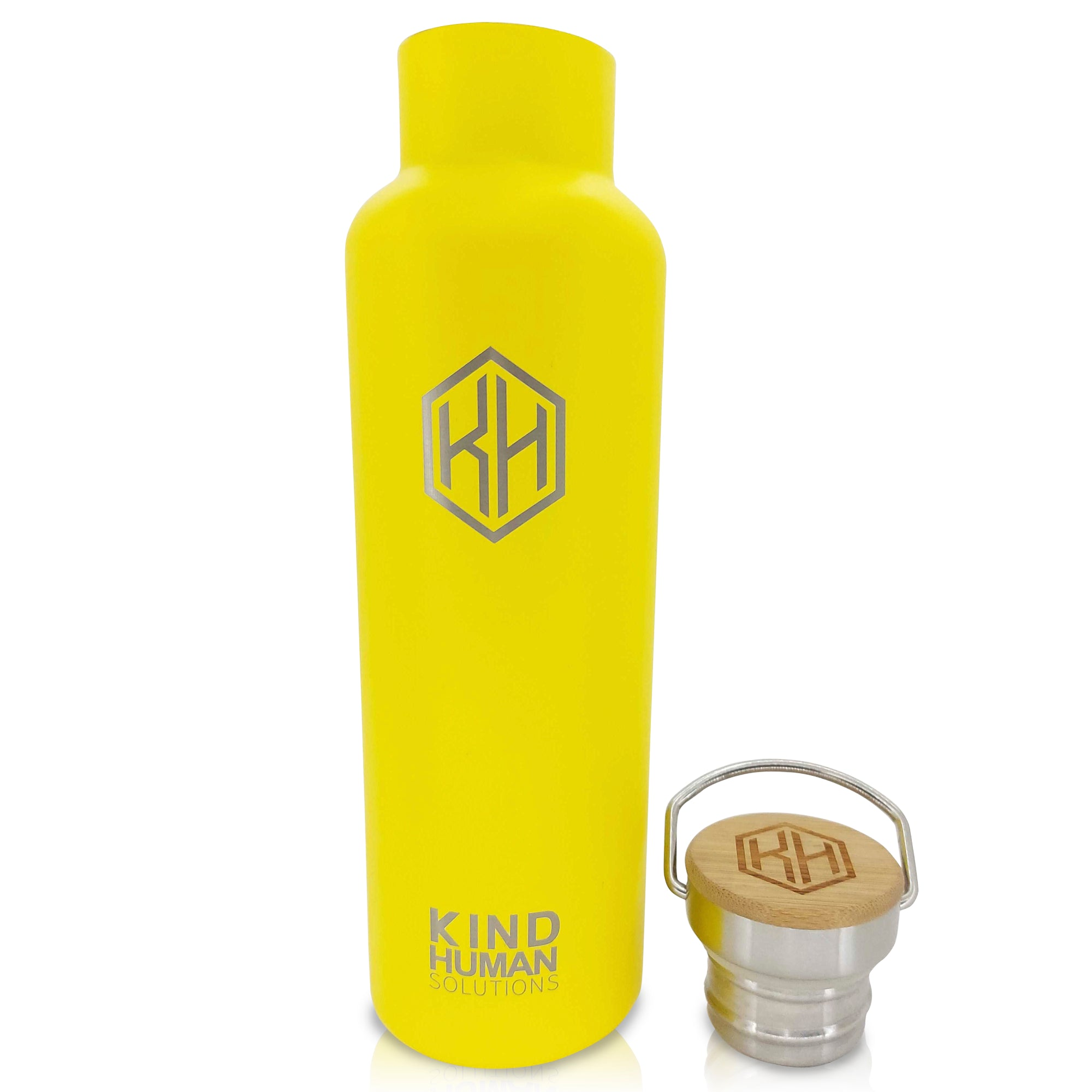 The Yellow Seahorse - Yellow 20oz. ZERO Plastic High Performance Stainless Steel Water Bottle