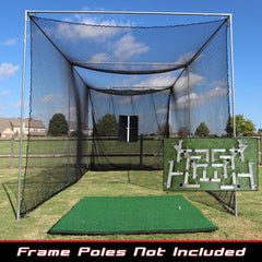 Image of Cimarron Sports 20x10x10 Masters Golf Net With Premier Golf Mat PKG-GLF2