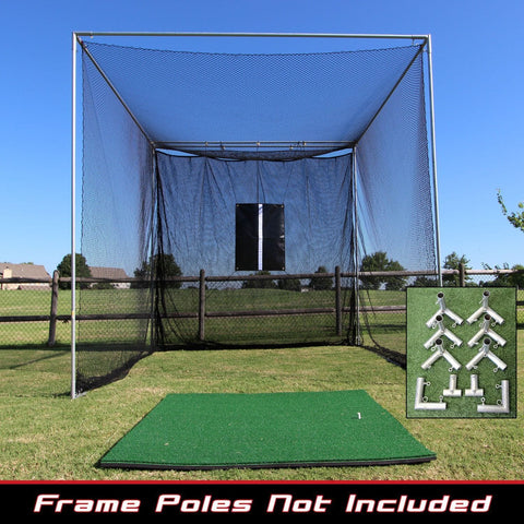 Cimarron Sports 10x10x10 Masters Golf Net With Premier Golf Mat PKG-GLF1