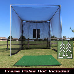 Image of Cimarron Sports 10x10x10 Masters Golf Net With Premier Golf Mat PKG-GLF1