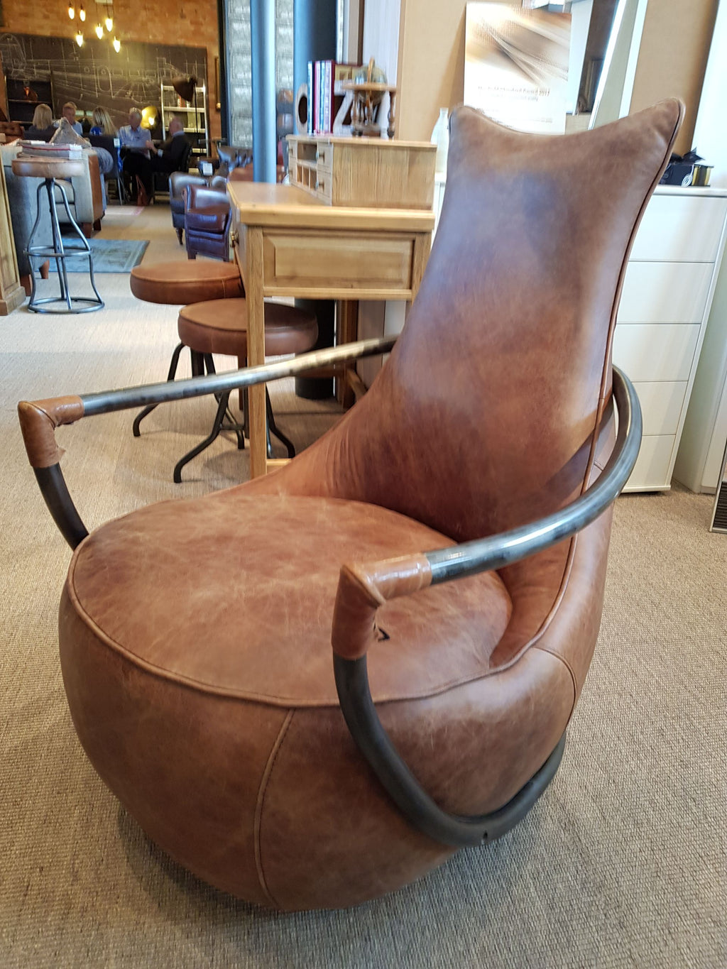 Maison Retro Leather Chair