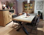 Habufa Farmer and Farmland Oak and Concrete Tables.-[Habufa baltimore]-[Furniture Village Baltimore]-1.80 Standard Ht X shape leg-Against The Grain Furniture